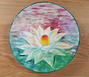 Portland Lotus Flower Plate