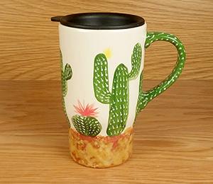 Portland Cactus Travel Mug