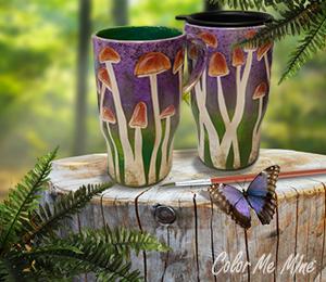 Portland Mushroom Mugs
